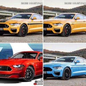 Renderings 2021 Mustang Facelift